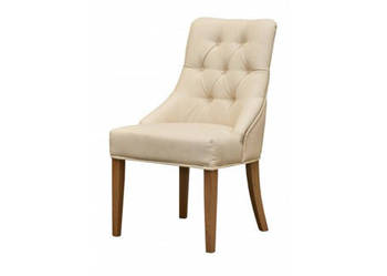 Krzesło z kołatką tapicerowane pikowane z pinezkami glamour