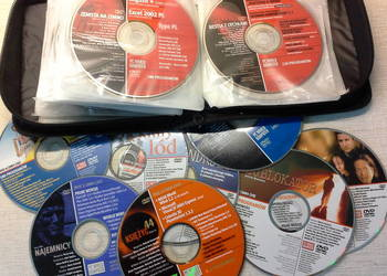 Kolekcja płyt DVD z całymi filmami, programami, grami PC Wor