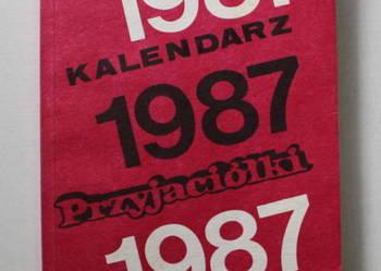 Kalendarz Przyjaciółki rok 1987