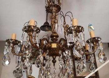 Żyrandol Figuralny z Kryształami Brąz Włochy