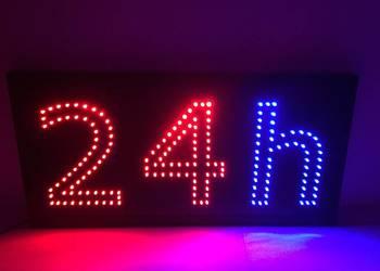 Reklama LED neon 24h 65x32cm