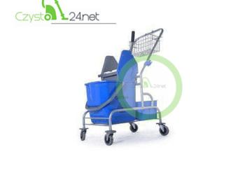 Wózek do sprzątania 1x25 litrów na stelażu z koszyczkiem