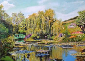 Obraz olejny, pejzaż Ogród wodny Moneta T.Mrowiński