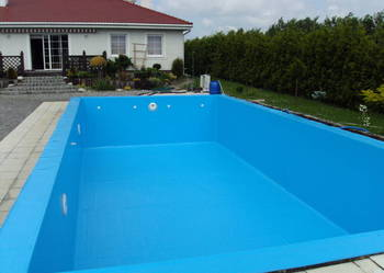 Basen folia basenowa niebieska 1,5mm kompleksowo cała Polska