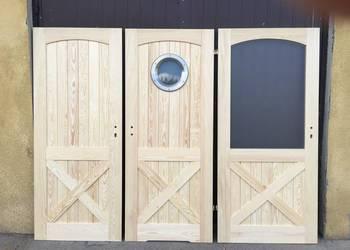 Drzwi wewnętrzne drewniane frezowane 2 z X