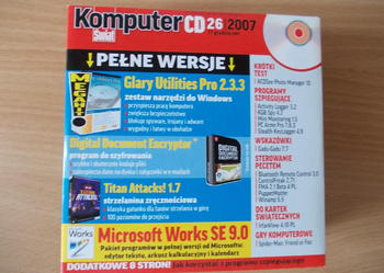 Komputer Świat 18 płyt CD   z programami komputerowymi.