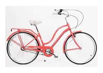 Rower miejski damski AMOR 26 cala NEXUS 3 biegów -Malinowy