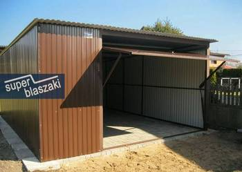 Garaże Blaszane 4x5 blaszak RAL Śląsk dowóz i montaż gratis