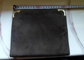 Używany, Saszetka torebka zamszowa na sprzedaż  Zamość