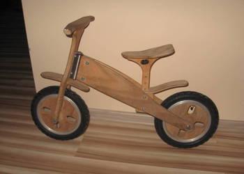 Rowerek biegowy drewniany Ładny Masywny