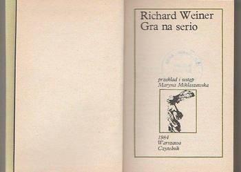 (7462) GRA NA SERIO – RICHARD WEINER