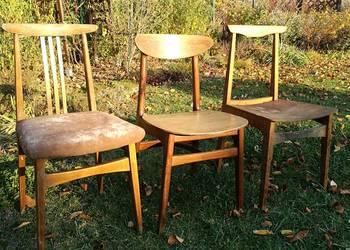 Unikatowe Krzesła Prl Hałas Zieliński Stolarskie