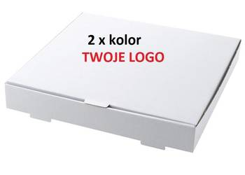 Kartony pudełka na pizzę 24 cm 100 sztuk z NADRUKIEM 2xkolor