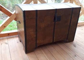 Wielki Kufer posagowy , skrzynia drewniana na posag