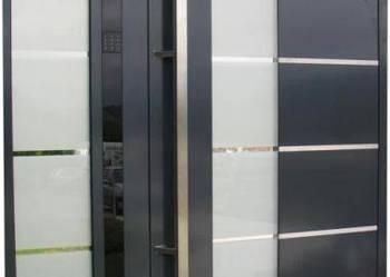 Drzwi aluminiowe wejściowe z systemem kontroli DCS