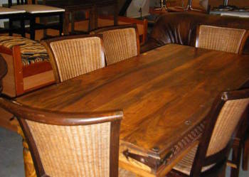 Stół + 6 krzeseł rattan