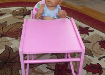 krzeseleczko do karmienia lalek