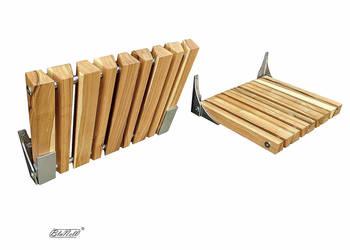 Krzesło ścienne, taboret ścienny - jesion, taboret składany