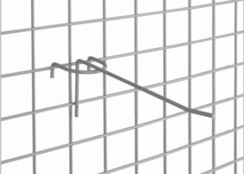Zawieszka na kratę chromowana 15 cm pojedyncza - 10 szt