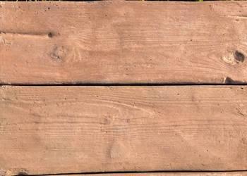 Deski betonowe, donica, ogród, palisada, drewno