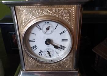 Zegar antyk kareciak Carl badische piękny z budzikiem