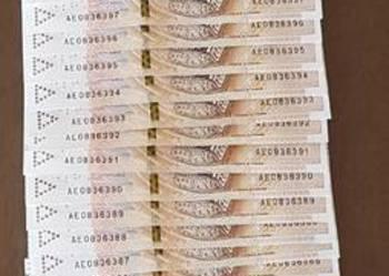 Nowe banknoty 200 zł. Kolejne numery.