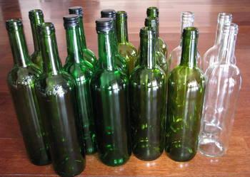 Butelki na domowe wino, nalewki…