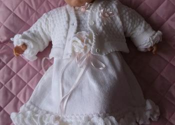 sukienki do chrztu dla dziewczynki - komplety do chrztu -47