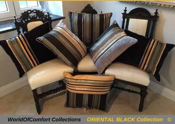 Poduszki dekoracyjne,poszewki ozdobne ORIENTAL BLACK