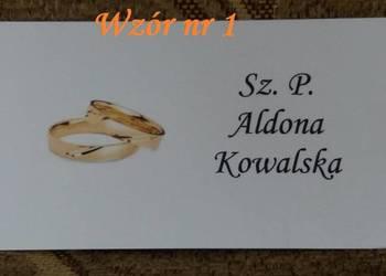 Winietki karteczki bileciki stół wesele Rocznica Ślubu Ślub