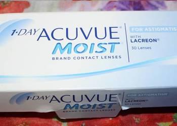 Soczewki kontaktowe acuvue moist -3,25, -0,75, 120 + wysyłka