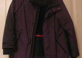 Fioletowa kurtka z H&M na zimę/jesień-rozm 128-stan idealny.