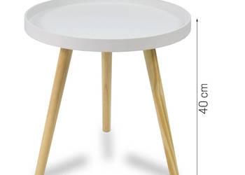 Designerski stolik kawowy Sky biały