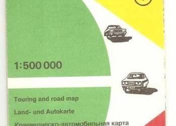 Mapa Krajoznawczo - Samochodowa - Koszalińskie Szczecińskie