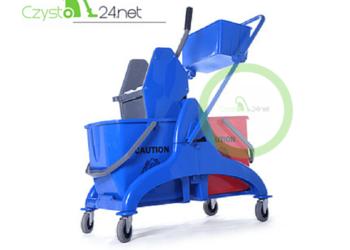 Wózek do sprzątania dwuwiaderkowy 2x25L z tworzywa