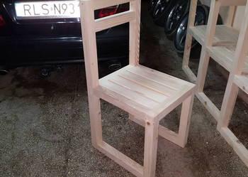 meble ogrodowe piękne masywne krzesła z litego drewna