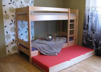 MEGA MASYWNE Łóżko piętrowe drewniane bukowe Producent mebli