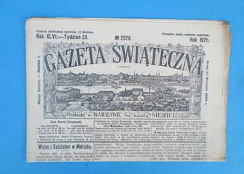 22. Gazeta Świąteczna Rok wydania 1926 - Bezpłatna wysyłka.