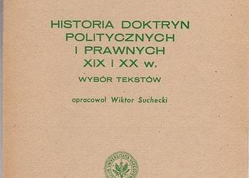 HISTORIA DOKTRYN POLITYCZNYCH I PRAWNYCH XIX I XX WIEK
