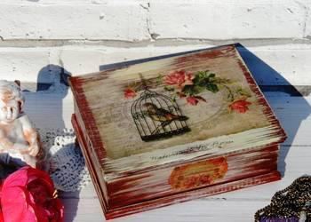 Szkatułka, pudełko na biżuterię, retro