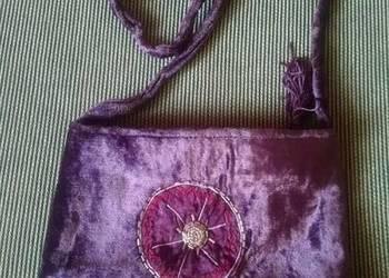 Fioletowa torebka indyjska