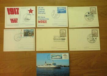 Znaczki, kartki, koperty, Fischer, PZF