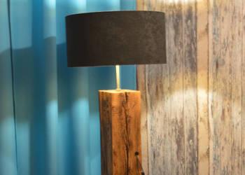 Lampa stojąca podłogowa ze starej belki 160 cm