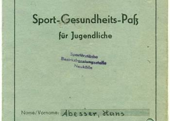 Sport Gesundheits dokument DDR Hans Abesser