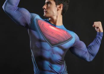 Koszulka Termoaktywna AVENGERS NA SIŁOWNIE Superman roz. L