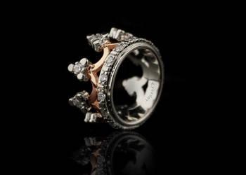 Pierścionek korona, Pierścionek korona ze srebra  - TYVODAR®