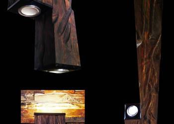 LAMPY LED drewno szczotkowane nowoczesny design