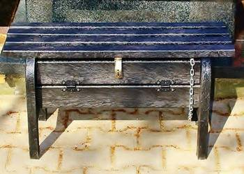 Ławka cmentarna przy grobowa z tworzywa sztucznego