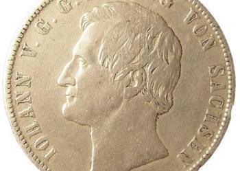 1 Talar Sachsen Saksonia 1868 B srebro ORYGINAŁ !