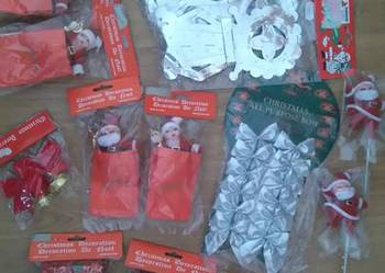 NOWE Ozdoby świąteczne mikołaj rozeta (po likwidacji sklepu)